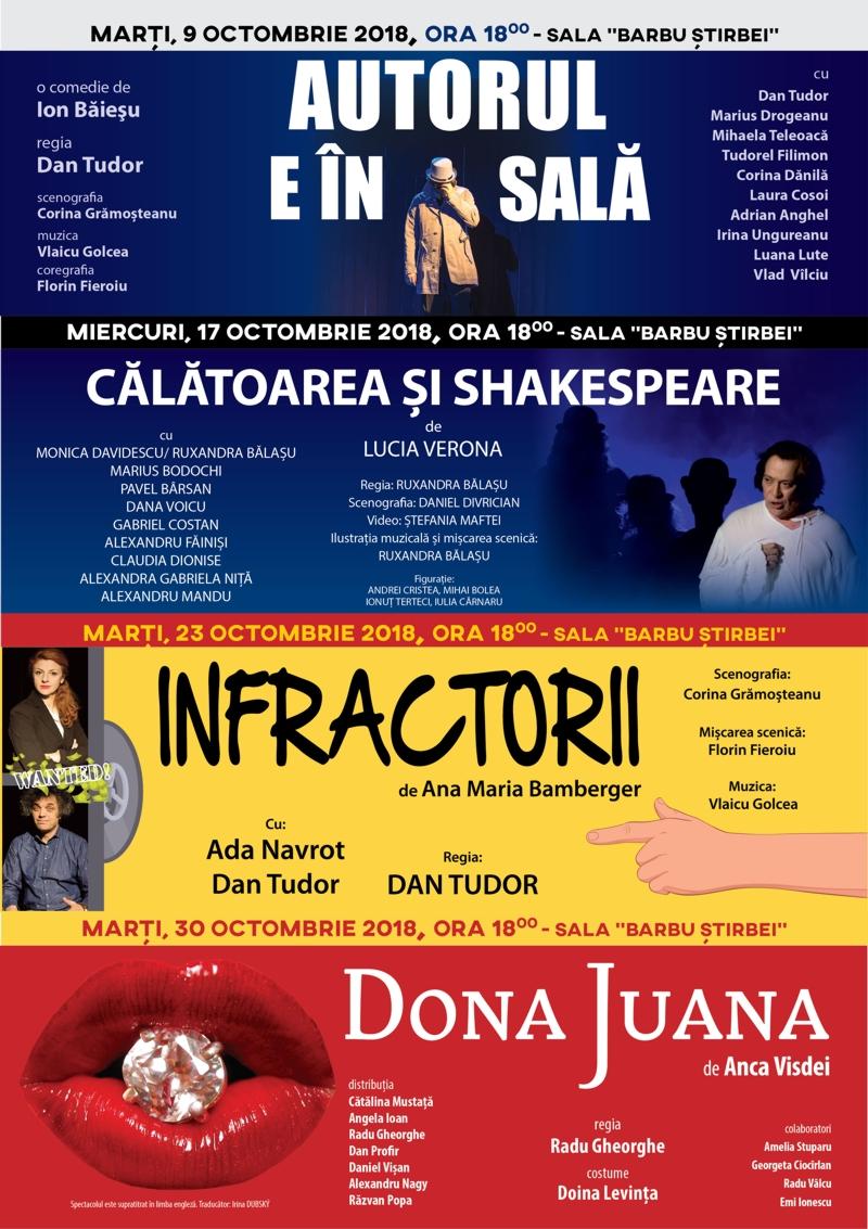 """Proiectul """"Luna dramaturgiei românești"""" continuă cu piesa de teatru """"Călătoarea și Shakespeare"""", de Lucia Verona, în regia Ruxandrei Bălașu"""