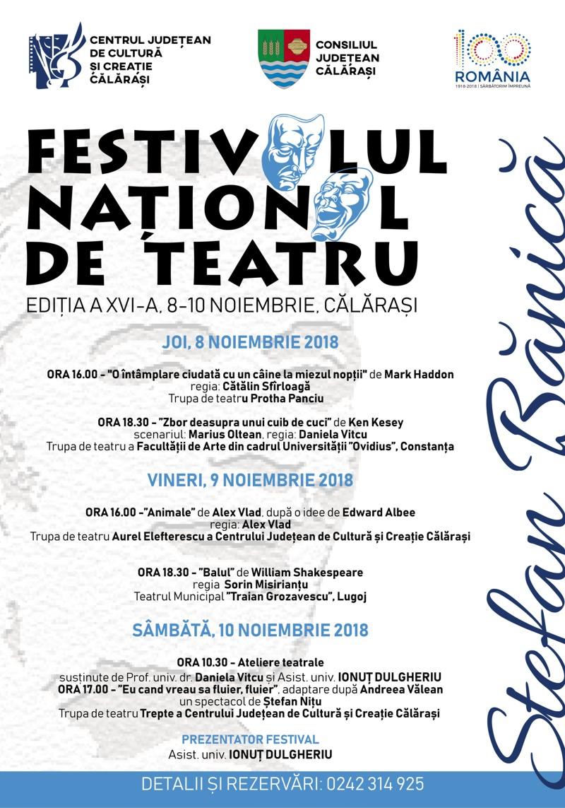"""Festivalul Național de Teatru """"ȘTEFAN BĂNICĂ"""" – ediția a XVI – a"""
