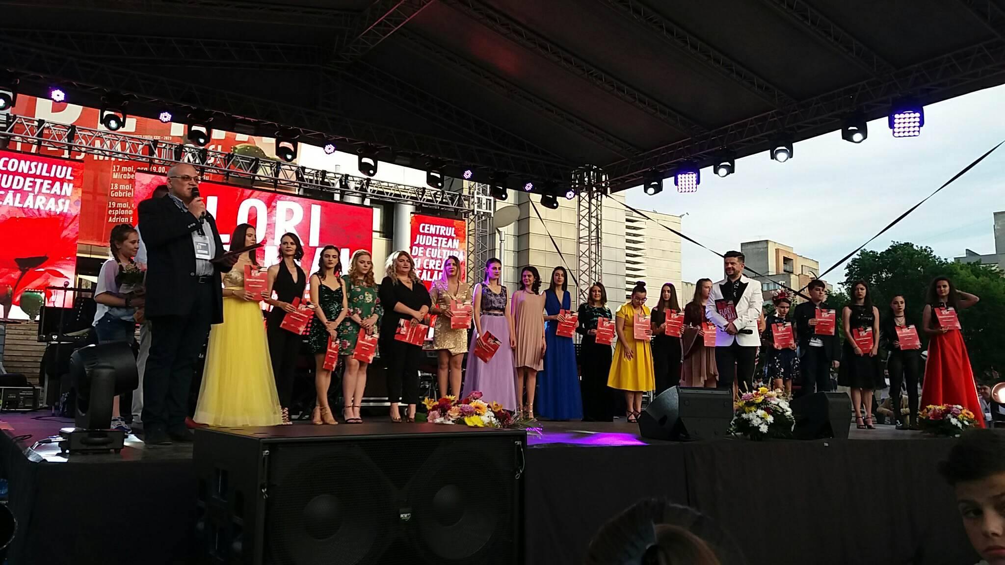 """Câștigătorii premiilor Festivalului concurs național de muzică ușoară românească """"Flori de Mai"""" – ediția a XXXI-a – Călărași 2019"""