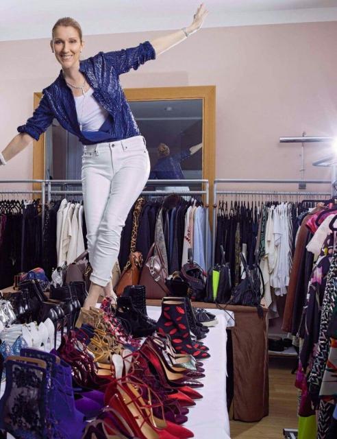 Celine Dion are peste 10.000 de perechi de pantofi