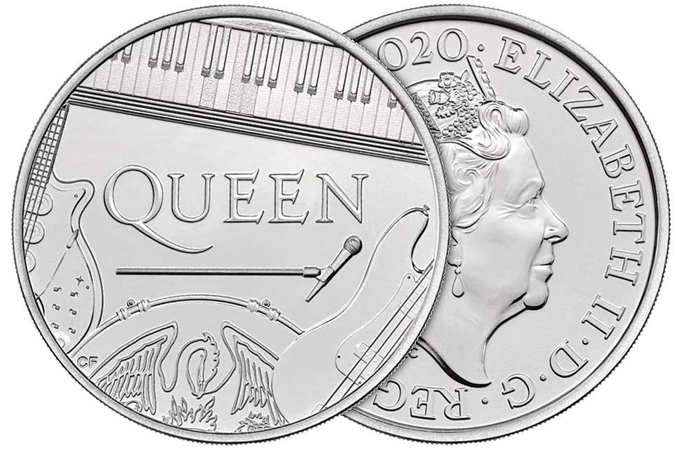Monedă comemorativă dedicată trupei Queen
