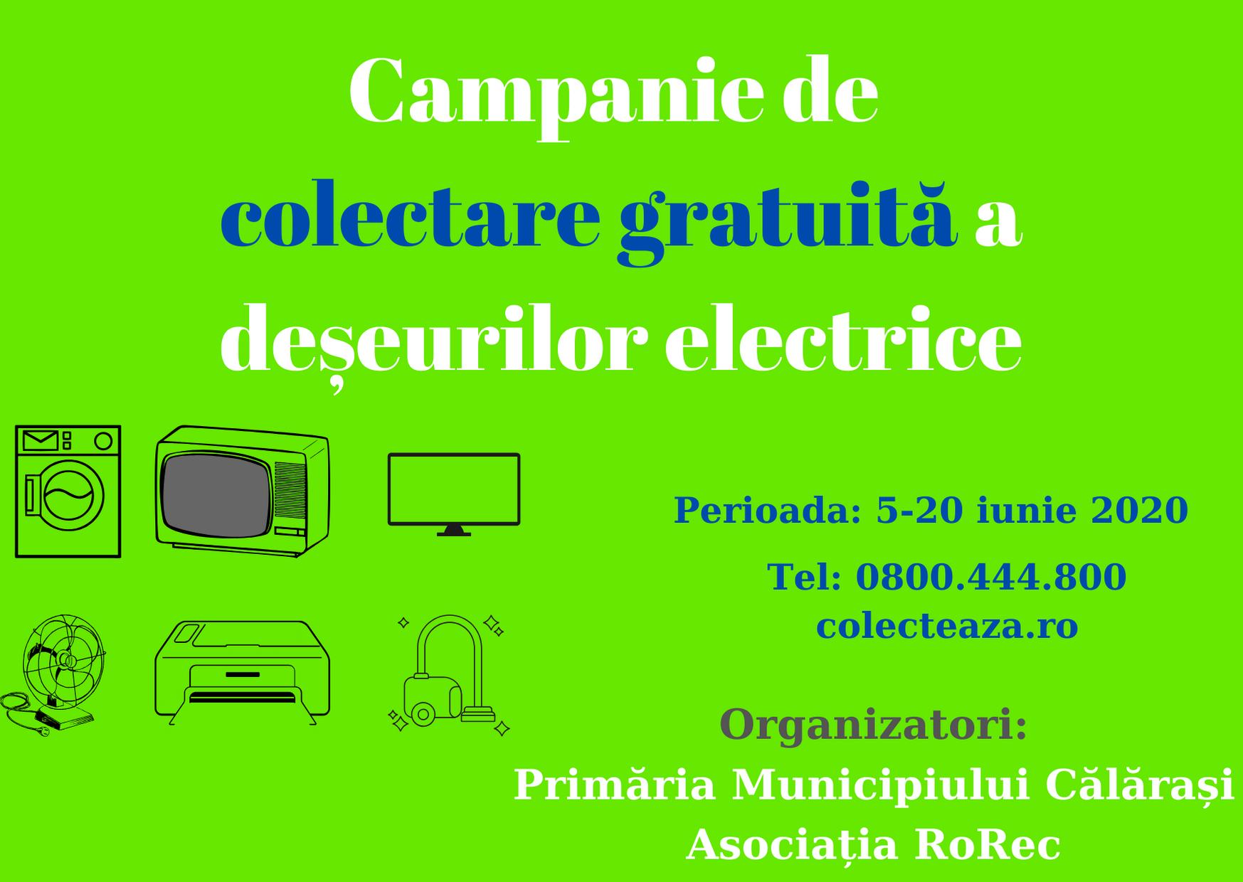 Luna iunie va fi luna colectării deșeurilor electrice