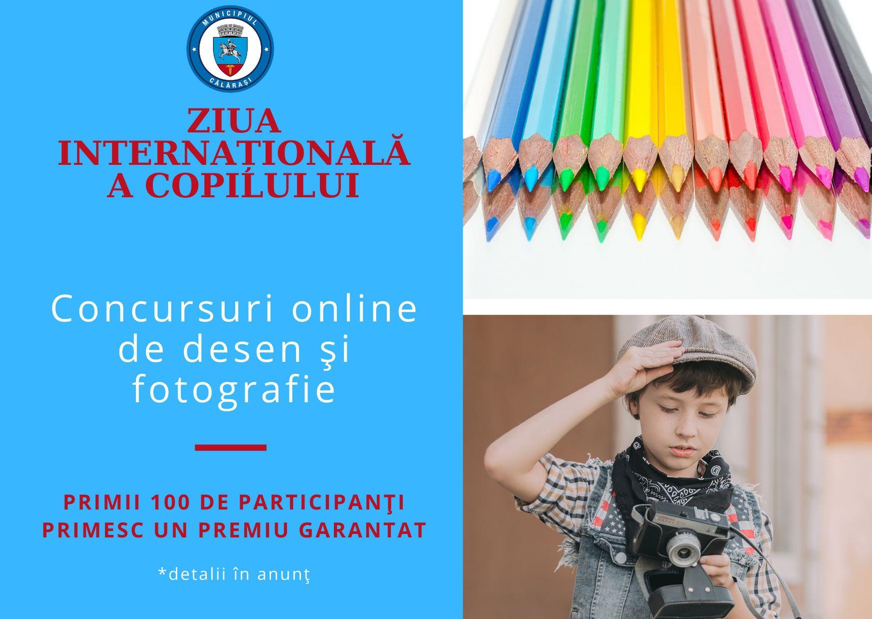 Primăria Călărași: Două concursuri online cu ocazia Zilei Internaționale a Copilului
